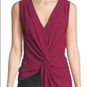 Cinq a sept twist front sleeveless top NWT